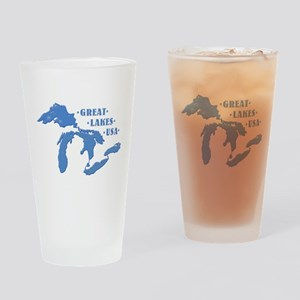GREAT LAKES USA Drinking Glass