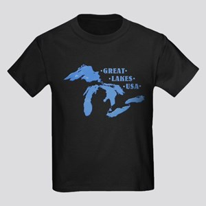 GREAT LAKES USA Kids Dark T-Shirt