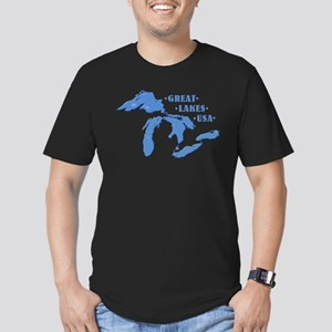 GREAT LAKES USA Men's Fitted T-Shirt (dark)