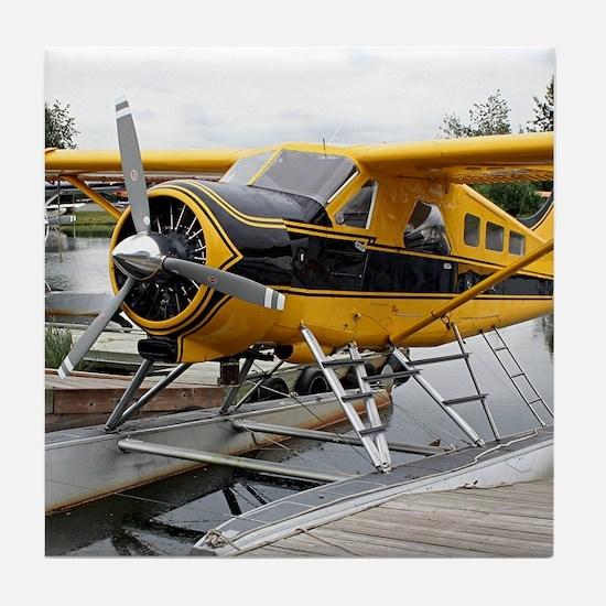 Beaver float plane Tile Coaster