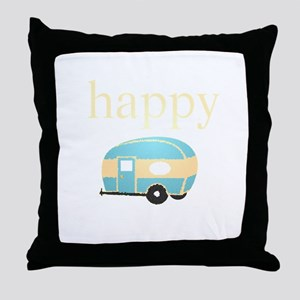 Personality_HappyCamper Throw Pillow