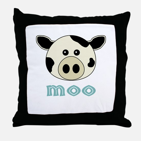 AnimalNoises_CowMoo.png Throw Pillow