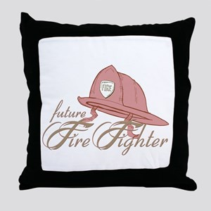 FutureFireFighter Throw Pillow