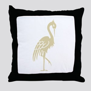 StandingBird Throw Pillow