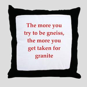 GEOLOGIST8 Throw Pillow