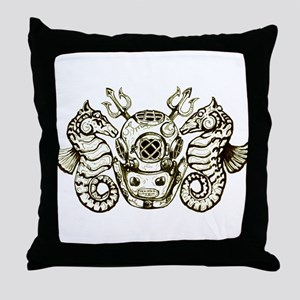 Classic Navy Master Diver Throw Pillow