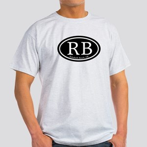 RB Rehoboth Beach Oval Light T-Shirt