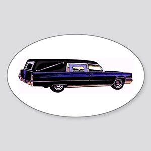 The Hearse Oval Sticker