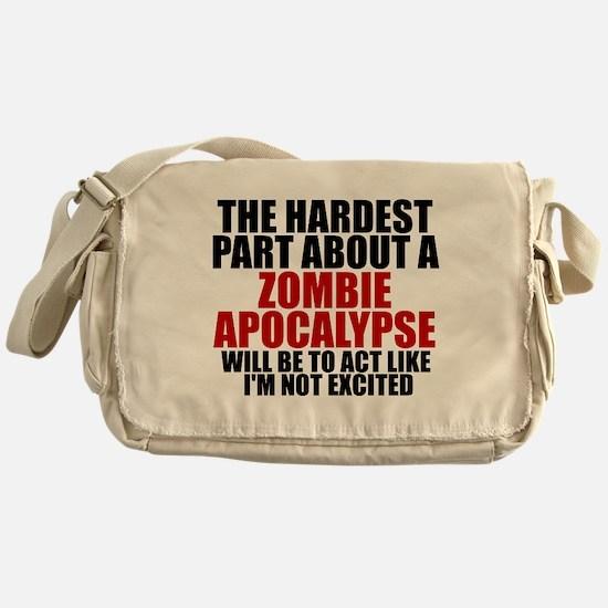 Exciting zombie apocalypse Messenger Bag