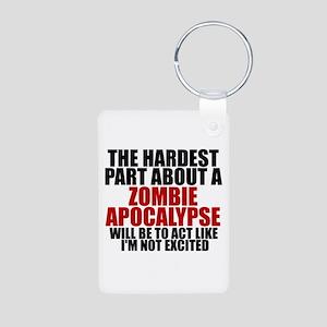 Exciting zombie apocalypse Aluminum Photo Keychain