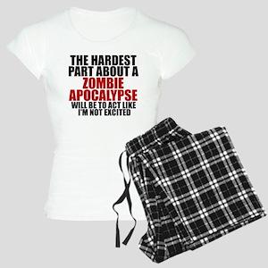 Exciting zombie apocalypse Women's Light Pajamas