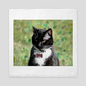 St. Patrick cat Queen Duvet