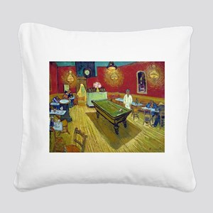Van Gogh Night Cafe Square Canvas Pillow