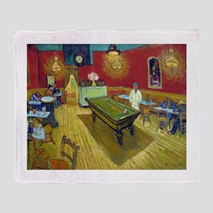 Van Gogh Night Cafe Throw Blanket
