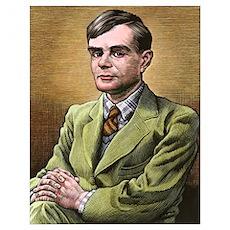 Alan Turing, British mathematician Poster