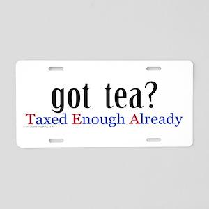 Got Tea Aluminum License Plate