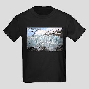 Portage Glacier, Alaska (with caption) Kids Dark T