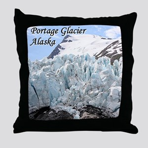 Portage Glacier, Alaska (with caption) Throw Pillo