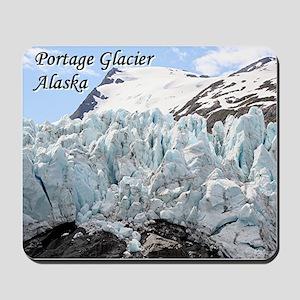Portage Glacier, Alaska (with caption) Mousepad