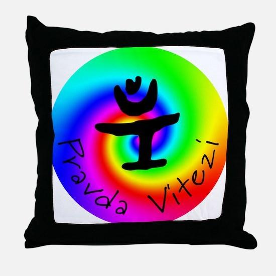 Pravda Vitezi Throw Pillow