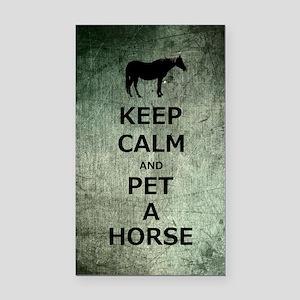 Keep Calm and Pet A Horse Rectangle Car Magnet