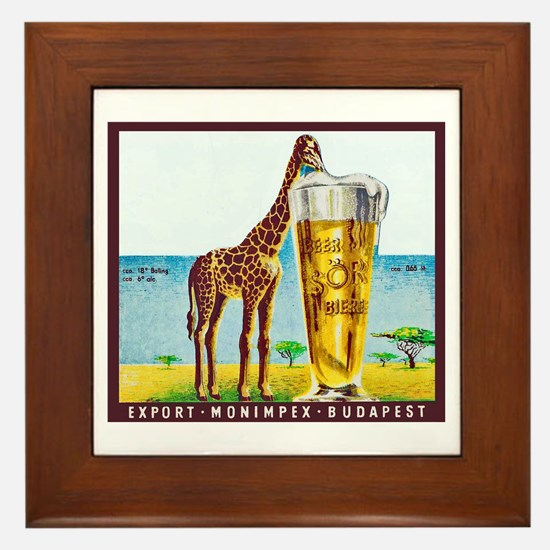 Hungary Beer Label 11 Framed Tile