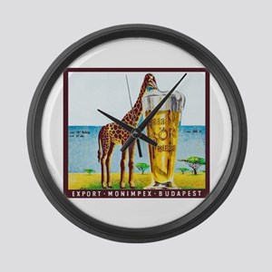 Hungary Beer Label 11 Large Wall Clock