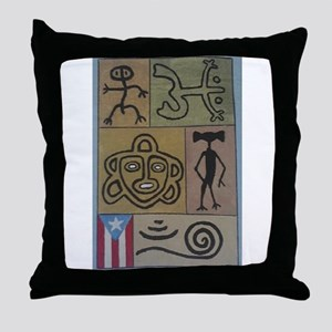 Taino Petroglyphs Throw Pillow