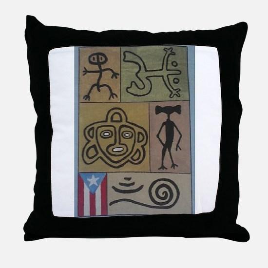Taino Petroglyphs Throw Pillow