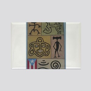 Taino Petroglyphs Rectangle Magnet