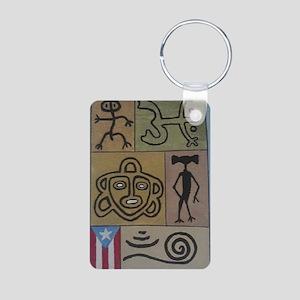 Taino Petroglyphs Aluminum Photo Keychain