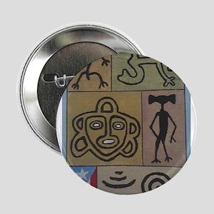 """Taino Petroglyphs 2.25"""" Button"""