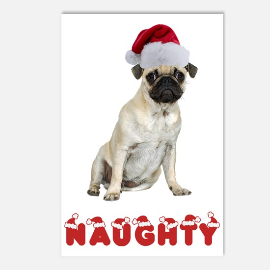 Naughty Pug Postcards (Package of 8)