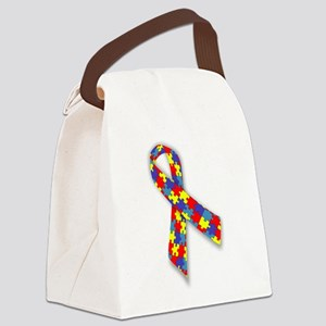AutismAwareness Canvas Lunch Bag
