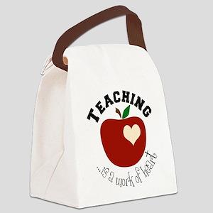 teacherheart Canvas Lunch Bag