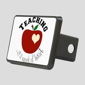 teacherheart Rectangular Hitch Cover