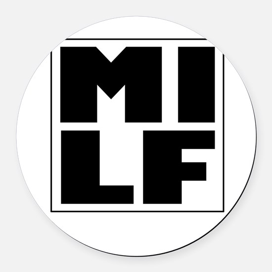 milf.jpg Round Car Magnet