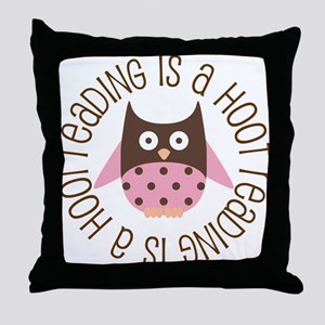 Reading Is A Hoot Throw Pillow