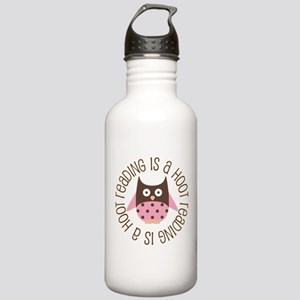 Reading Is A Hoot Stainless Water Bottle 1.0L