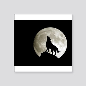 "wolf8 Square Sticker 3"" x 3"""