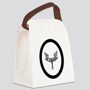 second_clipart_large_bw Canvas Lunch Bag