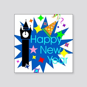 "HappyNewYear Square Sticker 3"" x 3"""