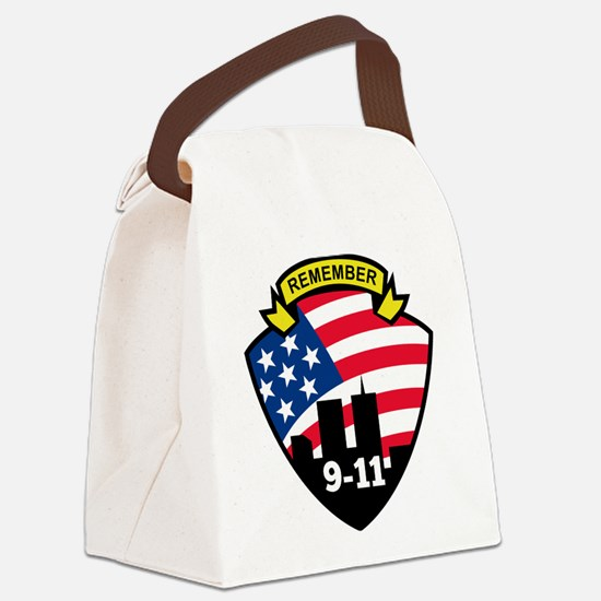 9-11Icon.jpg Canvas Lunch Bag