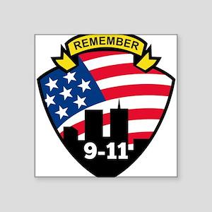 """9-11Icon Square Sticker 3"""" x 3"""""""