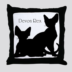 Devons in Silhouette Throw Pillow