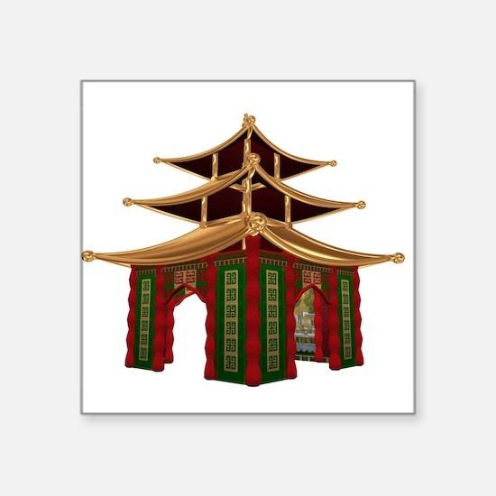"Temple.jpg Square Sticker 3"" x 3"""