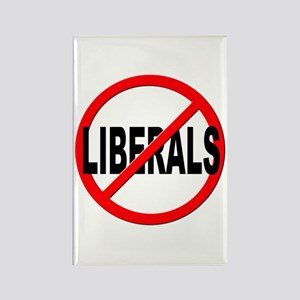 Anti / No Liberals Rectangle Magnet