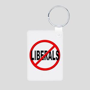 Anti / No Liberals Aluminum Photo Keychain