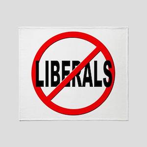 Anti / No Liberals Throw Blanket