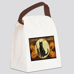 Vintage Merry Halloween Canvas Lunch Bag